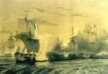 Эпизод англо-французской войны на море.