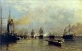 А. Боголюбов. Парад кораблей Балтийского флота по случаю прихода германской эскадры в Санкт-Петербур