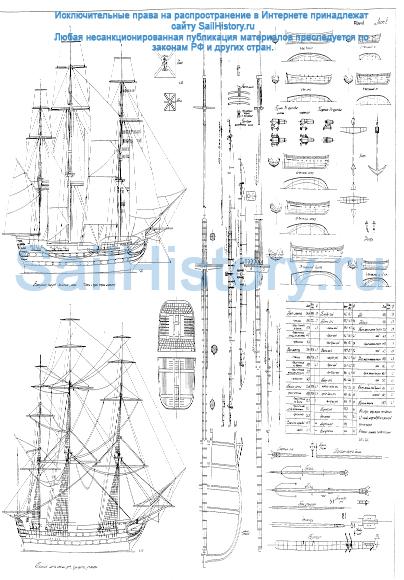 01010302 - Азовъ - Линейный 74-пушечный корабль  - лист 2